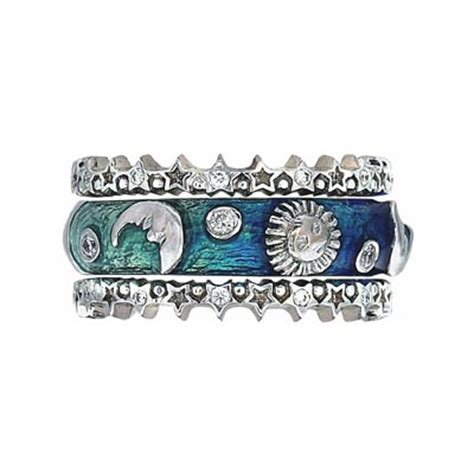 hidalgo stackable rings moon and collection set
