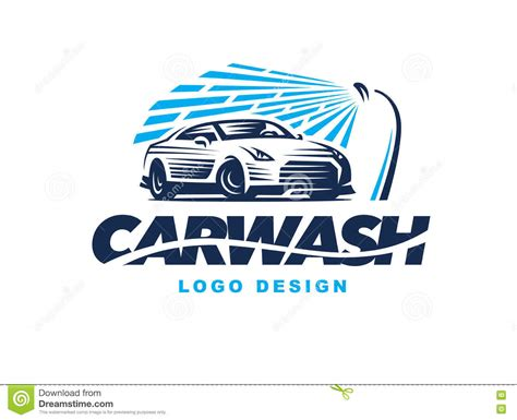 Car Wash Logo Design With Shower Icon Vector Illustration Cartoondealer Com 89133944 Car Wash Logo Template Free