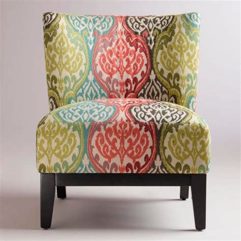 ikat armchair rio multicolored ikat darby chair contemporary accent and garden stools by cost
