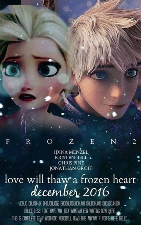 film frozen real they have to make a movie of queen elsa and jack frost