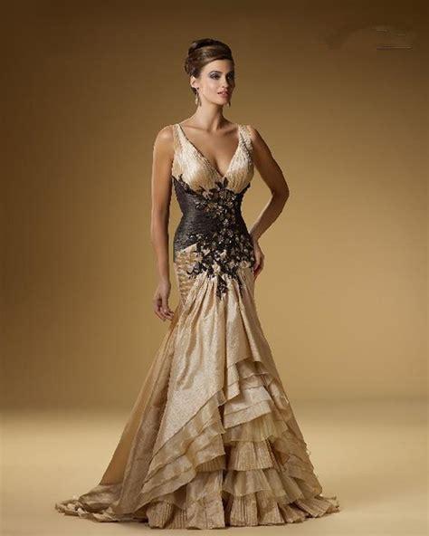 Glamours Dress glamorous evening dresses v neck ruch beaded chagne taffeta back appliques lace mermaid