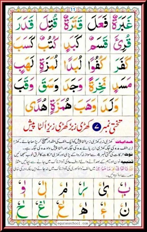 read quran e pak noorani qaida page no 11 to 15