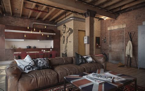 industrial loft decor industrial interior design den loft the perfect man cave