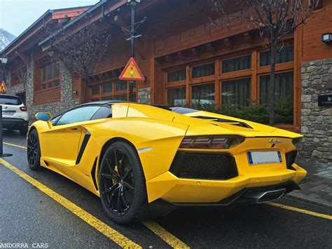 lamborghini aventador s roadster yellow lamborghini aventador lp700 4 roadster yellow all andorra