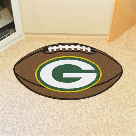 Shaped Area Rugs Green Bay Packers Football Shaped Area Rug