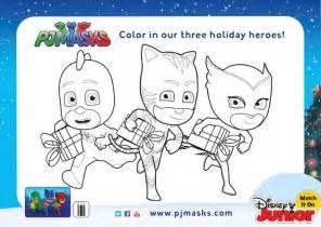 free holiday pj masks coloring pages activity sheets kids coupon