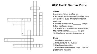 section 3 reinforcement dna atomic structure crossword puzzle with answers by