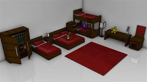 minecraft bedroom furniture minecraft bedroom pack rig cinema 4d anz creations