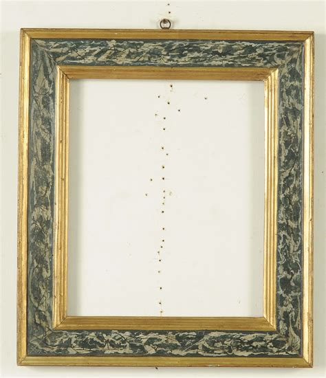 immagini di cornici coppia di cornici in legno dorato e laccato a finto marmo