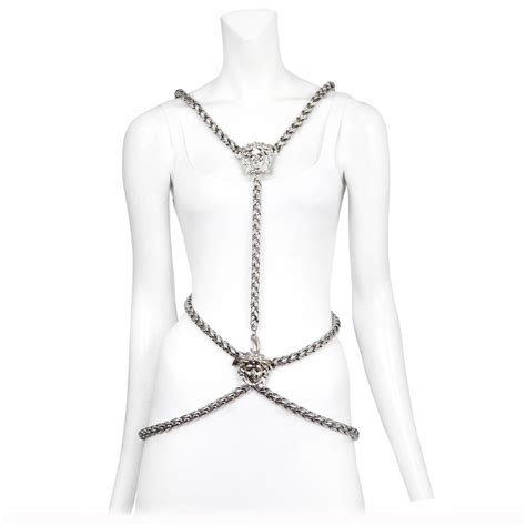 chain harness versace medusa chain harness at 1stdibs