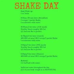 isagenix shake day schedule