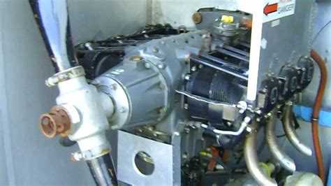 lycoming    cylinder horizontally opposed air cooled engine   test stand youtube