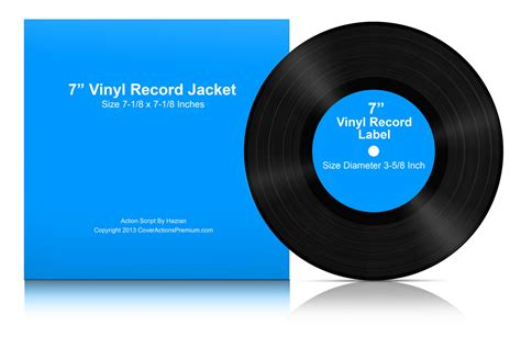 7 Inch Vinyl Lp Record Mock Ups Cover Actions Premium Mockup Psd Template 7 Inch Vinyl Record Label Template