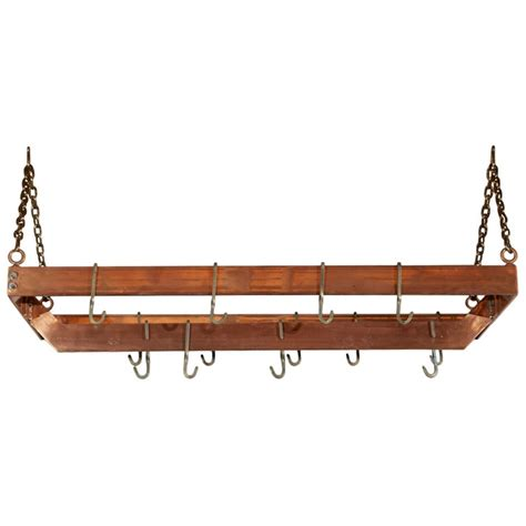 Metal Hanging Pot Rack copper plated metal hanging pot rack home decor