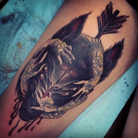 animal tattoo in arm arrow tattoos and designs page 280