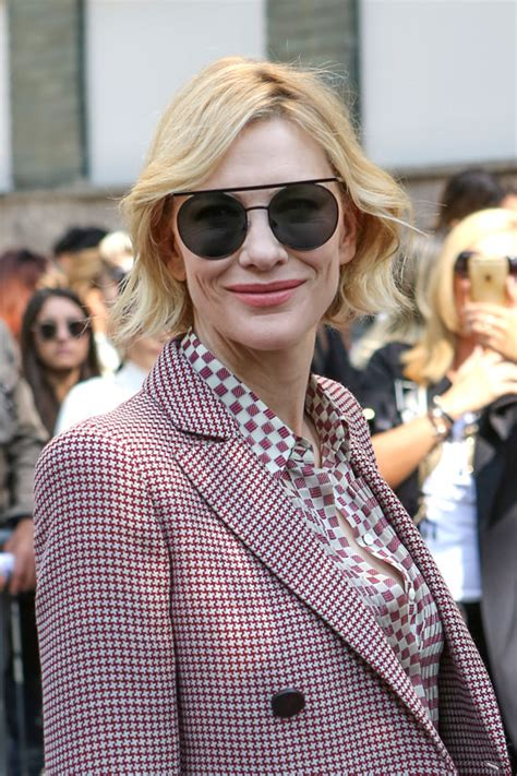 And Cate Blanchett At The Armani Fashion Show by Cate Blanchett As Always Makes The Impossible Chic At