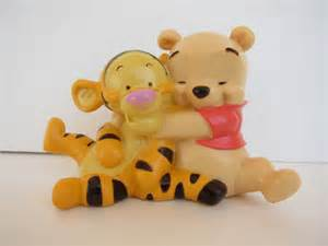items similar to baby winnie the pooh and tigger cake topper on etsy