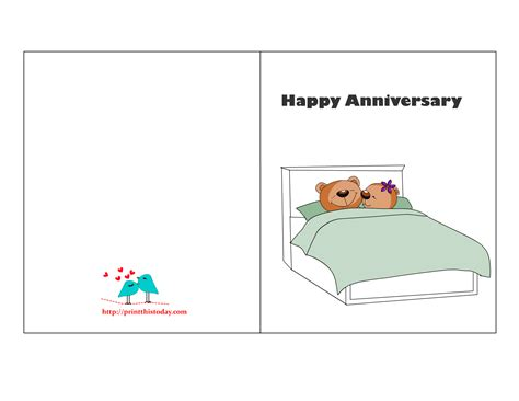 free card free printable anniversary cards