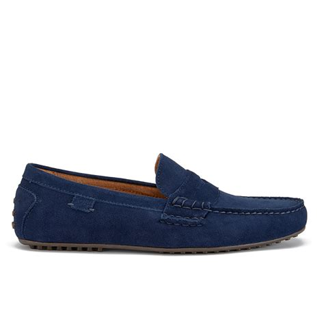 Suede Flat Shoes Polos polo ralph s wes e suede loafers newport navy free uk delivery allsole