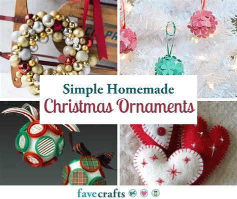 simple homemade christmas ornaments favecraftscom