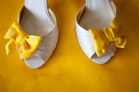 Yellow Wedding Shoes by Matrimonial Meg I Ve Got On A Cloudy Day