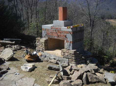 how to build an outdoor fireplace with bricks stonetutorials living masonry
