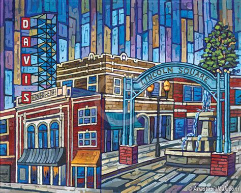 where is lincoln square lincoln square painting by mak