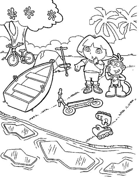 simple dora coloring pages dora the explorer map coloring pages coloring home