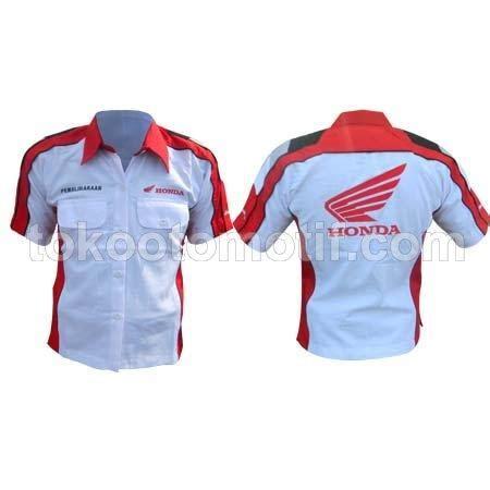 Seragam Honda jual kemeja kerja teknisi honda motor harga murah surakarta oleh cv raswo international