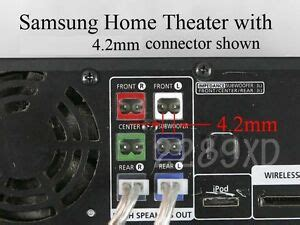 mm speaker wire connectors   select samsung