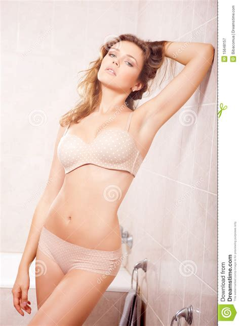 sexy bathroom poses sexy woman in bathroom royalty free stock photography