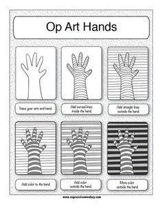 printable art sub plans op art worksheet worksheets kristawiltbank free