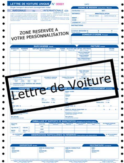 Modèle Lettre De Voiture Cmr lettre de voiture imprime