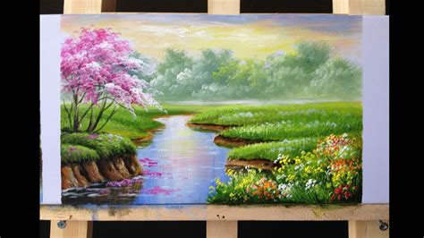 acrylic paint translate how to paint riverbank with acrylics lesson 2