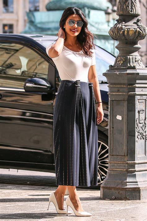 priyanka chopra fashion style priyanka chopra takes a stroll at place vend 244 me in paris