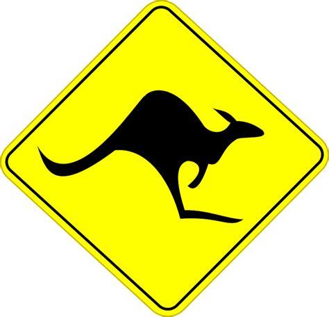 printable road signs australia image vectorielle gratuite kangourou l australie image