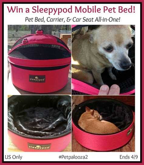 Pet Giveaways - win a sleepypod mobile pet bed in color of choice petpalooza2 us only ends 4 9