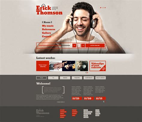 templates for dj website dj responsive website template 47894