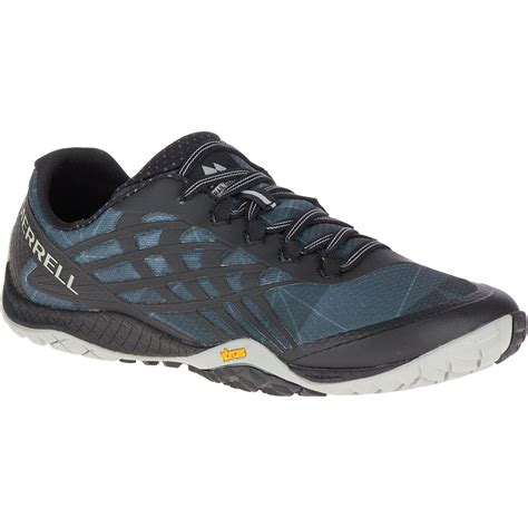running shoes merrell merrell s trail glove 4 trail running shoes black