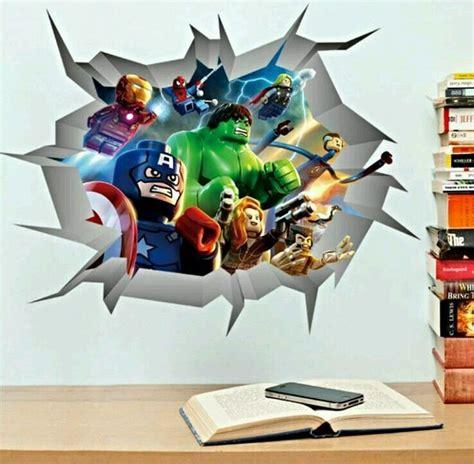 marvel avengers breaking  wall decal iron man hulk