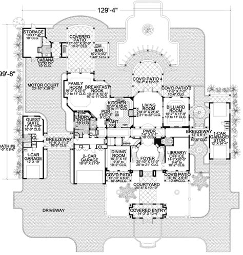 luxury estate floor plans luxury estate 32071aa architectural designs