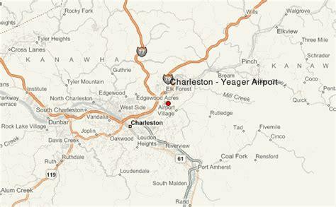 charleston wv map charleston yeager airport location guide