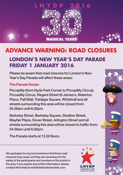 new year road closures new year s day parade the times the route road