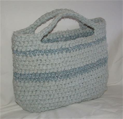 crochet rag bag pattern crocheted rag bag from a bed sheet w pattern purses