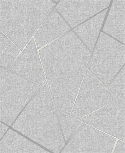 Fine Decor Quartz Fractal Geo Silver Grey Wallpaper FD42280
