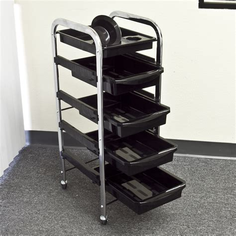 tattoo equipment trolley black salon stool trolley station beauty spa medical