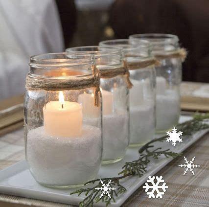 Que Puedo Hacer Con Frasquitos De Vidrio Para Un Baby Shower   mesa de navidad tarros con velas m agrada la deco