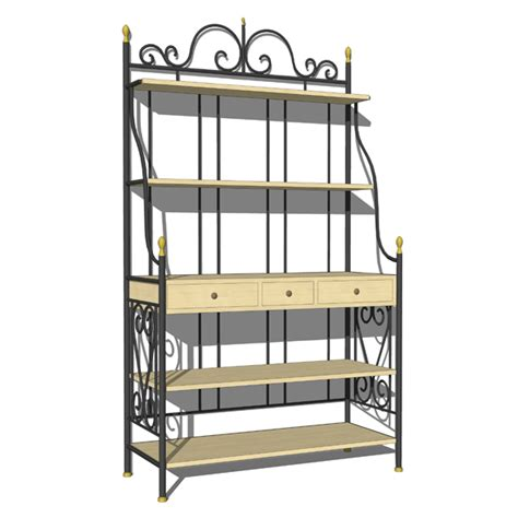 Wrought Iron Bakers Rack by Wrought Iron Bakers Rack 3d Model Formfonts 3d Models