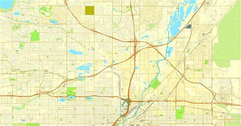 map of colorado vector vector map denver colorado us citiplan simple 3mx3m ai pdf good cs6 12
