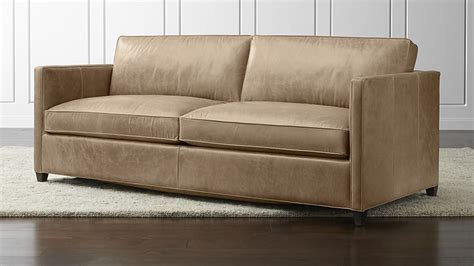 on leather sofa dryden leather sofa crate and barrel